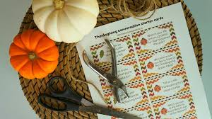 turkey day table printable thanksgiving conversation starter
