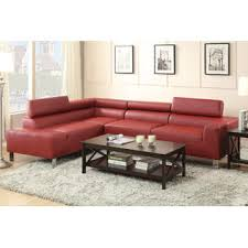 esofastore burgundy sectional sofa set flip up adjustable headrest