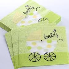 green baby shower decorations lime green baby carriage paper napkins baby shower decorations