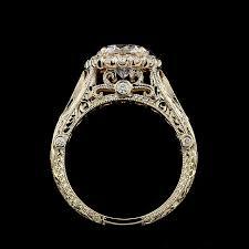 filigree engagement ring vintage filigree ring forever one moissanite ring halo