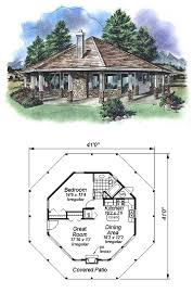 Octagon Home Plans Cool House Plan Id Chp 14581 Total Living Area 695 Sq Ft 1