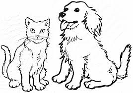 coloring pages dazzling coloring cat dog pages coloring