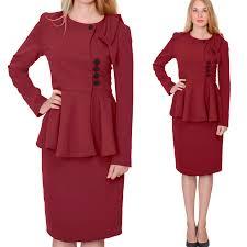 womens classy vintage peplum skirt suit retro business