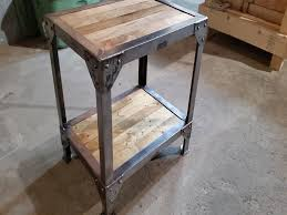 rustic metal coffee table furniture metal and wood end tables lovely making a wood and metal