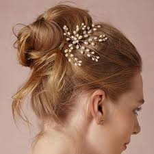 pearl hair accessories tiaras clip hair pins with 59 fresh water pearl hair