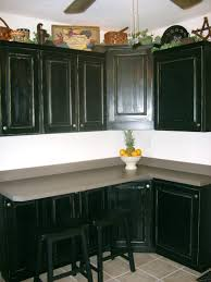 how to paint kitchen cabinets rustic look cliffdistressed black