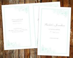online wedding programs wedding invitation computer software wedding program template