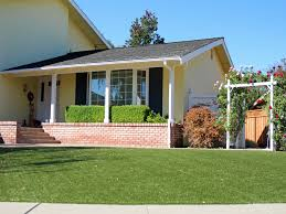 Arizona Front Yard Landscaping Ideas - synthetic grass flowing springs arizona landscape ideas front