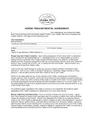 simple house trailer rental agreement template in doc with trip
