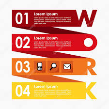 conceptmodern infographics options steps banner business concept modern flat