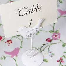 bird photo table name number holder shabby chic vintage style clip