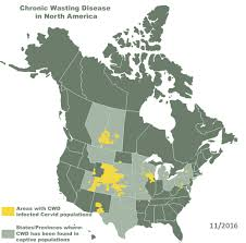 Maps North America by Map U2013 Chronic Wasting Disease In North America Cwd Alliance