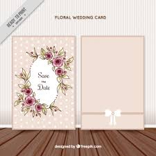 wedding invitations freepik floral wedding invitation card vector free
