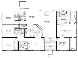 home floor plans with mother in law suite the hacienda iii 41764a manufactured home floor plan or modular