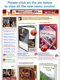 Restaurant Menu Covers Custom Imprinted Menu Covers