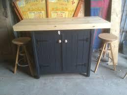 free standing kitchen island with breakfast bar a rustic wooden freestanding kitchen island handmade cupboard