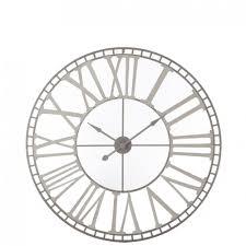 Horloge Murale Ronde Blanche Avec Murale Ronde Grand Diamètre D80cm Avec Chiffres Romains En Metal