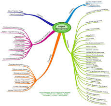 mind map of pmp exam project management process groups