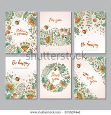 set six vector vertical cards flowers stock vector 505537441