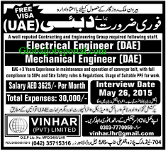 electrical engineering jobs in dubai for freshers electrical engineer mechanical engineer jobs in uae http