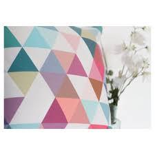 geometric triangle cushion in teal cult furniture uk