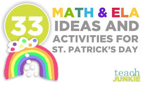 Math Decorations For Classroom 33 St Patrick U0027s Day Math Ideas And Ela Activities Teach Junkie