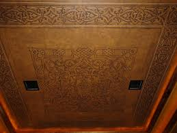 faux embossed leather ceiling for a media room jeff raum u0027s work