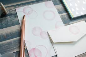 pink bubbles letter writing set writing paper stationery gift