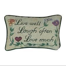buy set of 3 12 u0026quot live love laugh toss pillows neutral home