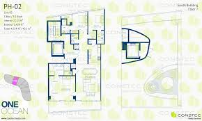 one ocean south beach floor plans