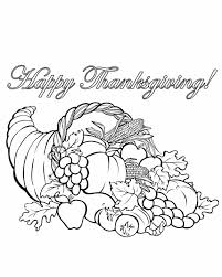 color thanksgiving cornucopia coloring page get coloring pages