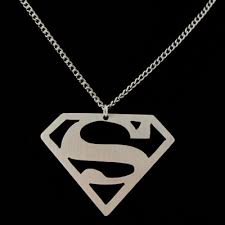 Necklace With Name Superman Name Necklace With Initial