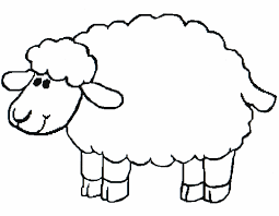 for children a unique activity is to color with sheep coloring