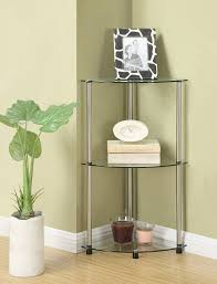Glass Bathroom Corner Shelves Convenience Concepts Designs2go Go Accsense 3 Tier