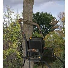 adjustable climbing tree stand deer heavy duty rifle rest seat