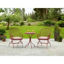 Bistro Patio Chairs by Traditions Metal 3 Piece Patio Bistro Furniture Set Product