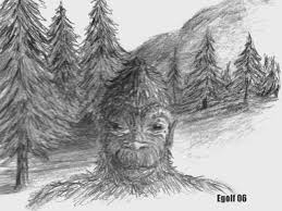 oregon bigfoot art drawings and paintings