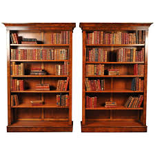 pair of walnut victorian style bookcases open bookcase at 1stdibs