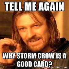 Storm Crow Meme - tell me again why storm crow is a good card one does not simply