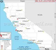 map usa big is big sur california