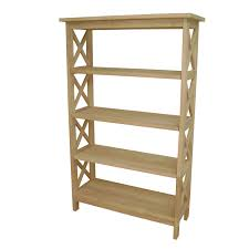 unfinished wood bookcase kit unfinished wood 4 tier etagere bookcase wood stain and house