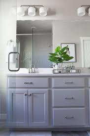 Gray Bathroom Cabinets Satin Nickel Home Office Pulls Design Ideas