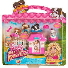 barbie puppies adventure playset pink house walmart com about this