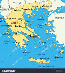 Map Of Athens Greece by Map Greece Stock Illustration 89621227 Shutterstock