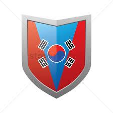 Flag Of South Korea South Korean Flag On Shield Vector Image 2013082 Stockunlimited