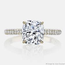 gold cushion cut engagement rings chelsea jean dousset diamonds engagement ring
