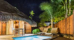 accommodation premium garden pool bungalow moorea hotel manava