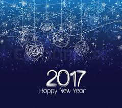 happy new year 2017 winter background with balls