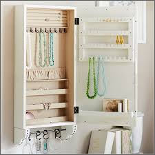 Jewelry Storage Cabinet Over Door Hanging Jewelry Organizer Storage Cabinet Box Home