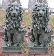 lion statue 2 regal lion statue outdoor driveway entrance garden decor new